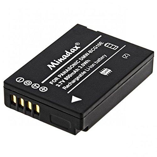 Minadax® Batteria di qualità con veri 800mAh per Panasonic DMC TZ31/25/10/8/7/6/ZX1/ZX3, come DMW-BCG10E, sistema intelligente con chip