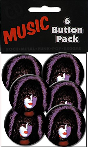 "C&D Visionary Kiss Starchild Stanley 1.25"" Button (6-Piece)"