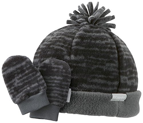 Columbia Frosty Fleece Ii Set - Infant Graphite Plaid, One Size front-1064579