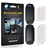 6 x (3 x Front + 3 x Back) Membrane Screen Protectors for Sony PlayStation PS Vita Slim Touchpad (PCH-2000-Serie) - Crystal Clear (Glossy), Retail Package, Installation Kit