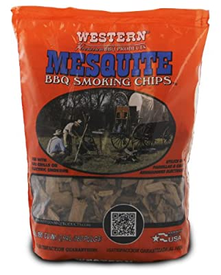 Western Mesquite Wood Smoking Chips 2 1/4 lb Bag by WW Wood inc