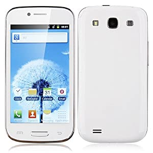 Unlocked Quadband 2 sim with Android 2.3 OS (Android 4.1 UI) Smart Phone 4.0 Inch Capacitive Touch Screen T-mobile Simple mobile (White)