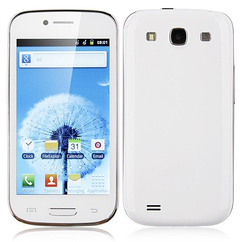 Link to Unlocked Quadband 2 sim with Android 2.3 OS (Android 4.1 UI) Smart Phone 4.0 Inch Capacitive Touch Screen T-mobile Simple mobile (White) Big Discount