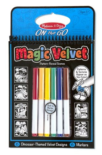 Melissa & Doug On the Go Magic Velvet Pattern-Reveal Activity Kit - Dinosaur (Velvet Coloring Pictures compare prices)