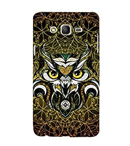 Owl 3D Hard Polycarbonate Designer Back Case Cover for Samsung Galaxy On5 Pro :: Samsung Galaxy ON 5 Pro