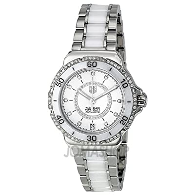 Tag Heuer Formula 1 Diamond Automatic Steel and White Ceramic Ladies Watch WAU2213.BA0861