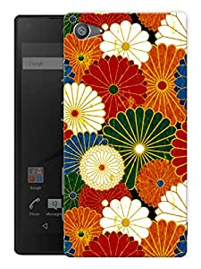 """Humor Gang Colorful Flower Pattern Printed Designer Mobile Back Cover For """"Sony Xperia Z5 Mini - Compact"""" (3D, Matte, Premium Quality Snap On Case)"""