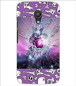 PrintDhaba Apple D-3589 Back Case Cover for MOTOROLA MOTO G2 (Multi-Coloured)