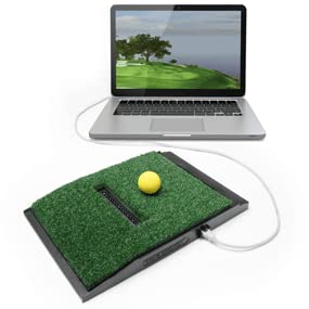 OptiShot swing pad with laptop