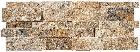 Scabos Travertine Splitface Stacked Ledger Wall Panel 7 in. x 20 in. Natural Stone Tile - SMALL SAMPLE LISTING (Stone Wall Panels compare prices)