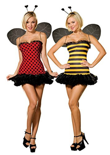 Dreamgirl Womens Buggin Out Reversible Bumblebee Ladybug Dress Sexy Costume