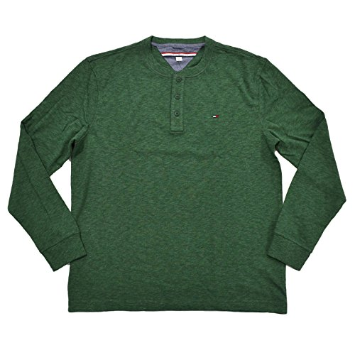 Tommy Hilfiger Mens Henley Long Sleeve Tee