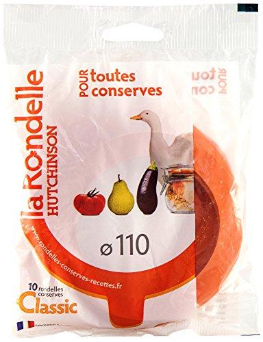 Hutchinson 485516 Sachet de 10 Rondelles Universelles Caoutchouc Orange 11 x 82 x 2,5 cm