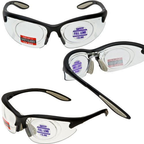 MORAYS Full Magnifying Safety Glasses Removable Magnifier Select Full Magnifier ADD 1 50 Magnifier