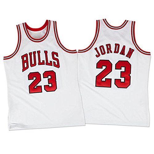 Mens Michael Jordan #23 Chicago Bulls White Classics Jersey XXL (Jordan Classics compare prices)