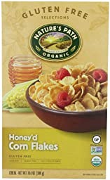 Nature\'s Path Organic Honey\'d Corn Flakes Cereal, 10.6-Ounce Boxes (Pack of 6)