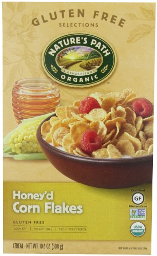 Nature's Path Organic Honey'd Corn Flakes Cereal, 10.6-Ounce Boxes (Pack of 6) (Organic Corn Flakes Cereal compare prices)