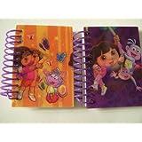 Dora The Explorer 3 D Pvc Cover 2 Piece Mini Notebook Set ~ Dora & Boots Swing Time; Dora & Boots With Butterflies