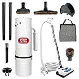 Central Vacuum Ultra Clean Power Unit 7,500 sq. ft. Electric Hose Powerhead Attachments