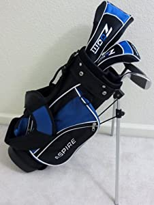 Boys Right Handed Junior Golf Club Set with Stand Bag for Kids Ages 3-6 Blue Color... by PG Golf Equipment