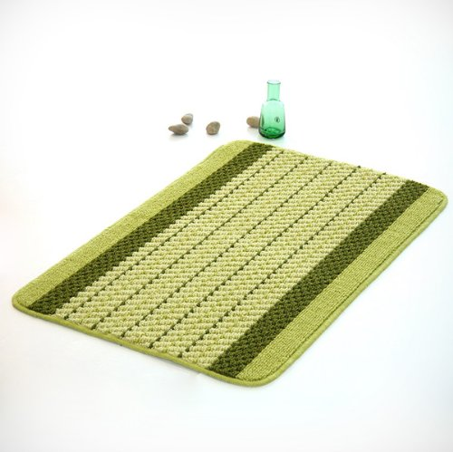 Naomi - [Olive Stripes] Luxury Home Rugs (15.7 by 23.6 inches)