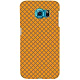 For Samsung Galaxy S6 Yellow Sign Reflection Transportation Texture ( Yellow Sign Reflection Transportation Texture, Texture Background, Pattern ) Printed Designer Back Case Cover By TAKKLOO