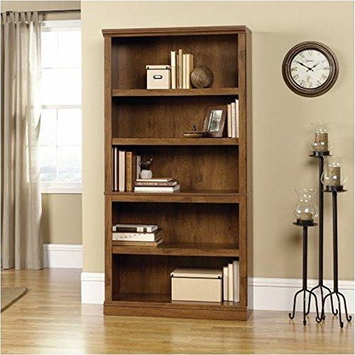sauder-5-shelf-bookcase-oiled-oak-finish