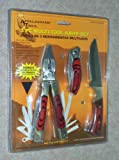 3 Piece ~ Multi-tool Knife Set (With Bonus Pouch)