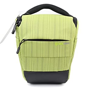 Evecase Light Green DSLR Camera Holster Bag with Strap for Fuji FinePix S1 S9400W S9200 S8200, S4200, S2950, S2800HD, S4500, S4800, S6800, S8400W, S8400, SL300, S3200, S4000