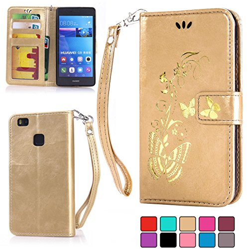 ifeeker-huawei-p9-lite-wallet-pu-leather-case-with-screen-protectorgolden-vines-flower-plantscute-bu