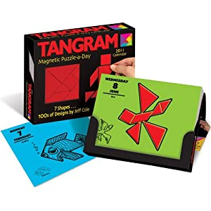 Tangram Magnet Puzzle-a-Day Calendar: 2011 Day-to-Day Calendar