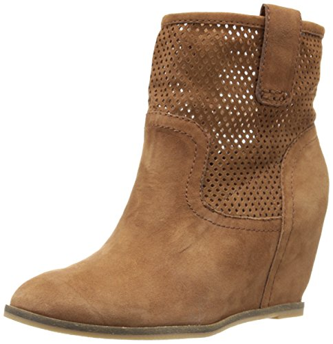 Lucky Brand Keno Hidden Wedge Bootie TOFFEE Size 7.5
