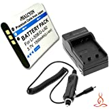 Halcyon 1500 MAH Lithium Ion Replacement Battery And Charger Kit For Olympus VR-350 16.0 Megapixel Digital Camera And Olympus LI-50B