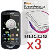 Set of 3 Clear LCD Screen Protector Film Guard for Verizon Pantech Breakout ADR8995