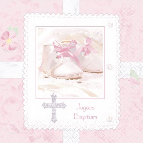 "Tiny Blessing Pink 13"" Lunch Napkins - 16/Pkg."