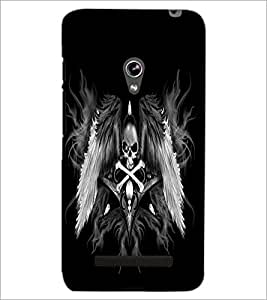 PrintDhaba Skull and Bone D-2197 Back Case Cover for ASUS ZENFONE 5 A501CG (Multi-Coloured)