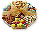 Hula Delights Deluxe Holiday Candy and Roasted Nuts Gift Basket ★ Octagon Shaped Gift Tray ★ Delicious Roasted Almonds, Pistachios, Cashews, Mixed Nuts, Chocolate Lentils, Swiss Petite Fruit Candy, Super Sour Worms ★ Gift Baskets for Men and Women of All Ages ★ Fantastic for Any Occasion ★ 100% Satisfaction Guaranteed
