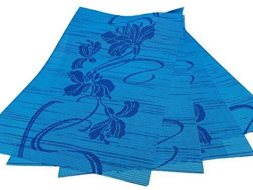 Style My Garden 4er Tischset Hellblau/Dunkelblau 45x30cm (J5/12) günstig online kaufen