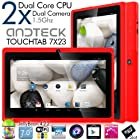 Andteck TouchTab 7X23 Dual Core 4.2.2 Google Android 7 in Tablet PC, 1.5GHz, Wi-Fi, A23 [2014 Model] (Red)