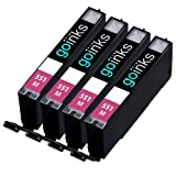 4 Magenta Compatible Canon CLI-551M Printer Ink Cartridge for Canon Pixma iP7250, iP8750, iX6850, MG5450, MG5550, MG6350, MG6450, MG7150, MX725