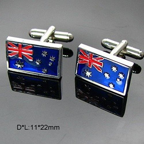 Mc Mall fashion Aussie Flag design Shirt cuff Cufflinks cuff links drop shipping for men's gift 382 (Aussie Flag Dress)