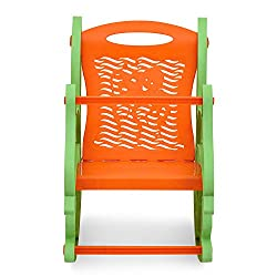 Nilkamal Dolphin Rocker Kids Chair (Green and Orange)