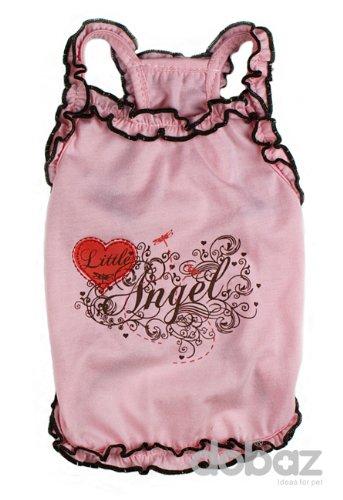 Lil Angel Dog Shirt - Pink, Medium