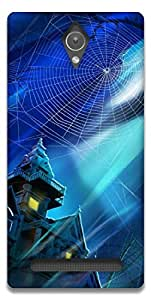The Racoon Lean haunted house hard plastic printed back case / cover for Asus Zenfone C