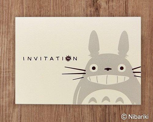 WISH 結婚式(ウエディング)【ジブリ】 結婚式招待状 トトロのごあいさつ(10枚セット) 手作りキット