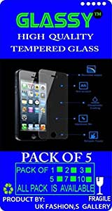 GE-2 Glassy (Pack Of 5) laminated safety Tempered Glass Screen Protector For Panasonic Eluga i2