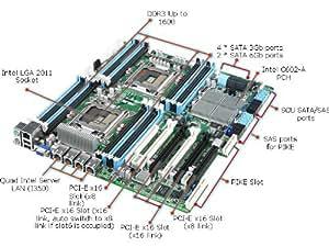 Asus Z9PE-D16 Dual LGA2011 Xeon/Intel C602-A PCH/4GbE/SSI EEB Server Motherboard (ASMB6-IKVM)