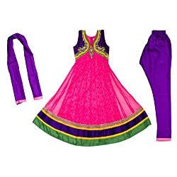 Pintoo Apparels Girls Pink Traditional Salwar Set for 16-17 Years