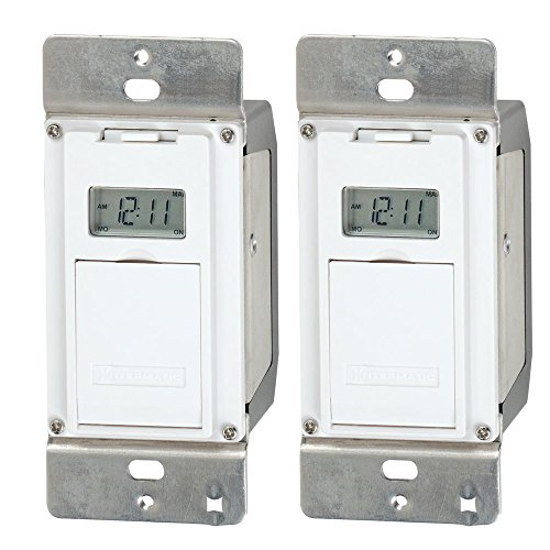 Intermatic EJ500 Digital 4 Amp Astronomic Electronic Switch 7-Day Timer, 2-Pack