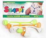 Gamuza de Molly Fitzpatrick pañales sujetadores-Pack de 3DayGlo/NEON (naranja, amarillo, blanco) (Baby/Babe/Infant-Little Ones)
